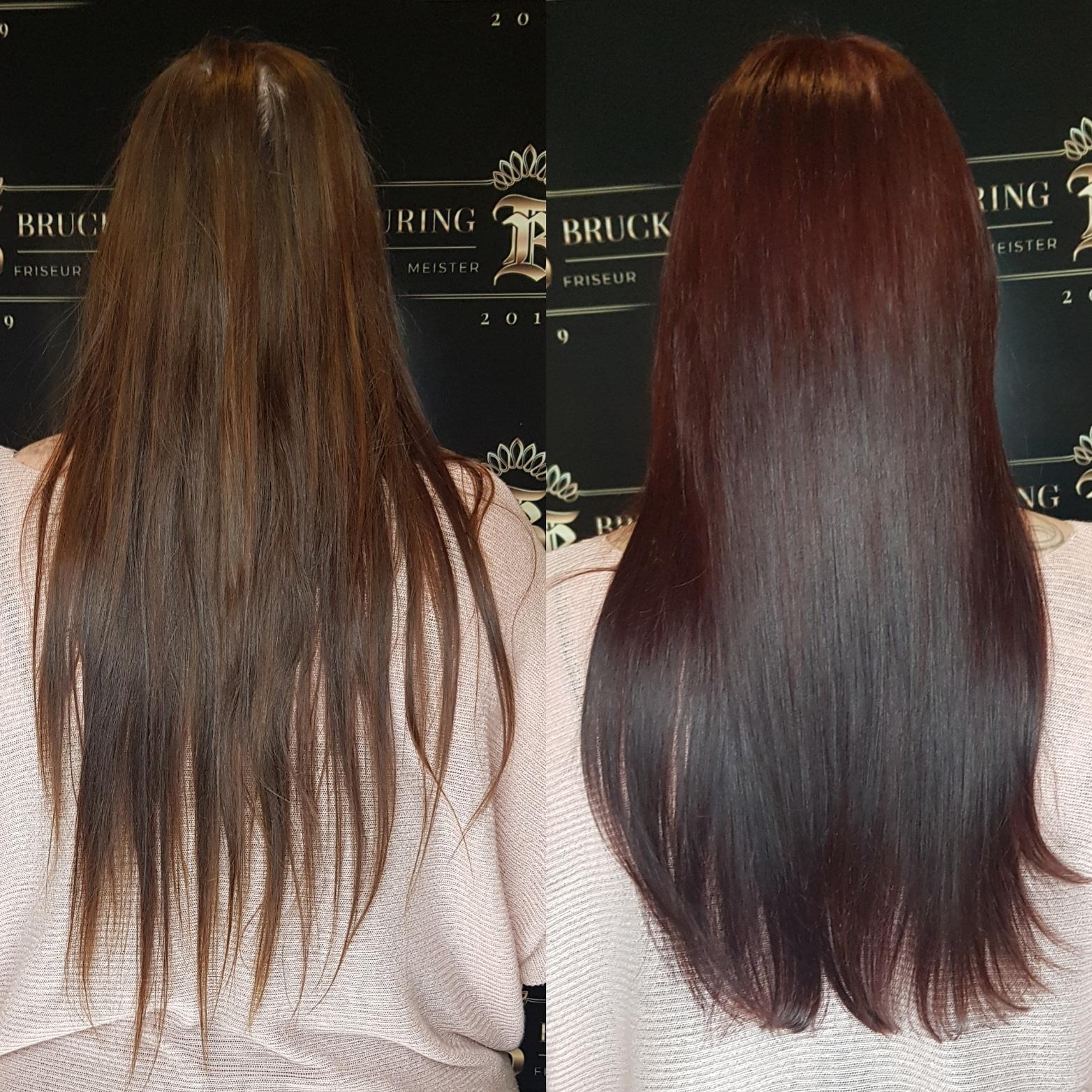Langes glattes Haar